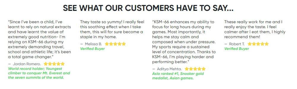 Ashwagandha gummies reviews